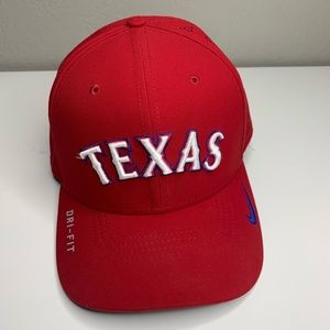 Texas Rangers Red Baseball Cap Hat One Size Nike